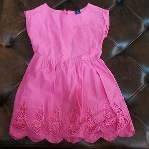 Gap girls dress size 6-7 pink